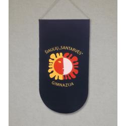 """Šiaulių """"Santarvės"""" gimnazijos vėliava"""