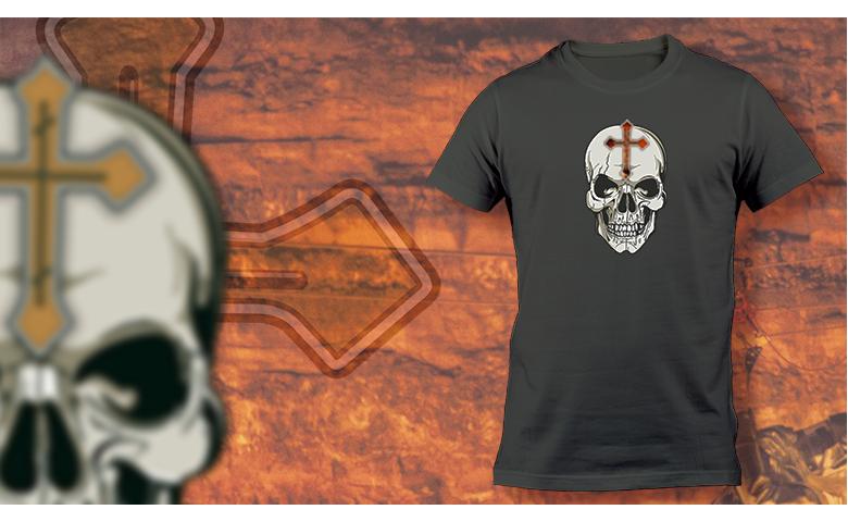 Kaukolė ir kryžius
